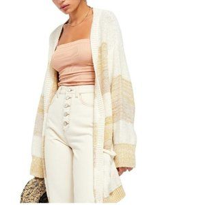 Free People Southport Oversized Beach Cardigan